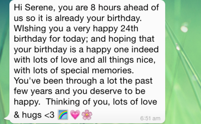 My aunt sent this to me. I was so touched by her message <3